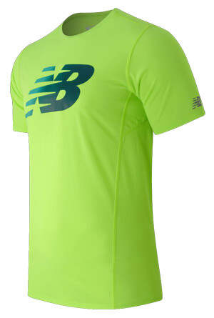 New Balance Accelerate Short Sleeve Printed Top  8fd05eb578