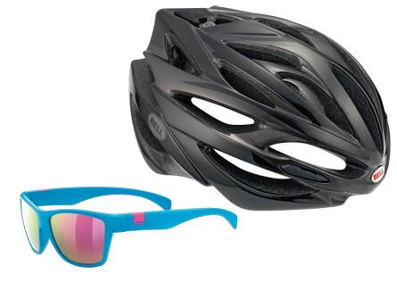 a1e718888646 Bell Bell Array kerékpáros sisak és Uvex Lgl1 Sotschi napszemüveg ...